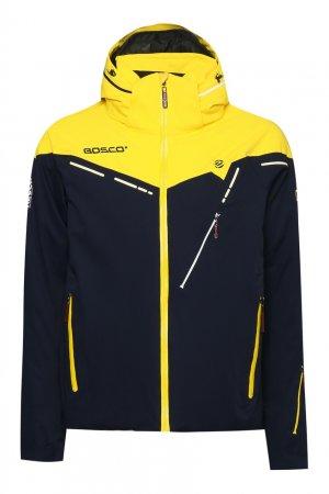 Сине-желтая куртка с капюшоном Bosco. Цвет: multicolor