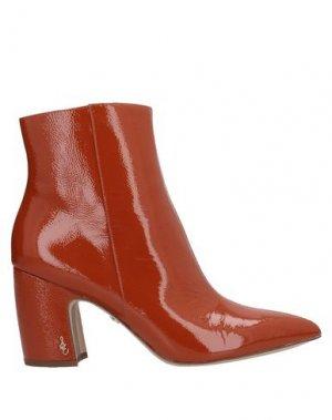 Полусапоги и высокие ботинки SAM EDELMAN. Цвет: желто-коричневый