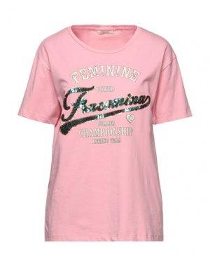 Футболка FRACOMINA. Цвет: розовый