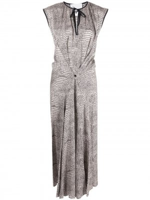 Платье без рукавов с присборенной талией 8pm. Цвет: белый