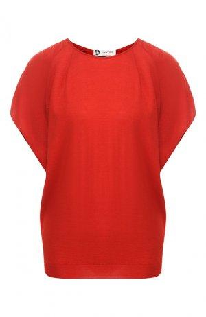 Пуловер из смеси шерсти и шелка Lanvin. Цвет: красный