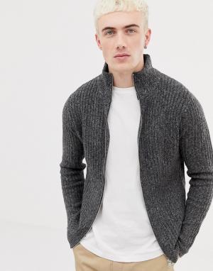 Серый кардиган Pull&Bear. Цвет: серый