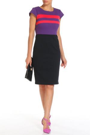 Платье Aftershock. Цвет: фиолетовый, розовый, черный