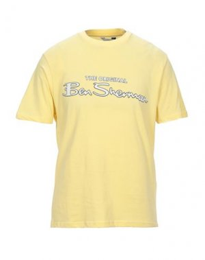 Футболка BEN SHERMAN. Цвет: желтый