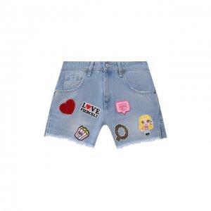 Джинсовые шорты Chiara Ferragni. Цвет: синий