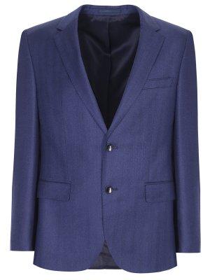 Пиджак из шерсти и шелка BOSS