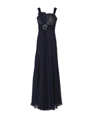 Длинное платье LEXUS. Цвет: темно-синий