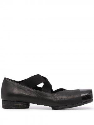 Балетки с квадратным носком Uma Wang. Цвет: черный