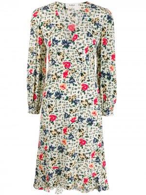 Платье Paloma с цветочным принтом Ba&Sh. Цвет: нейтральные цвета