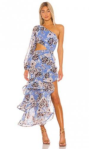 Вечернее платье sabetta Alexis. Цвет: синий