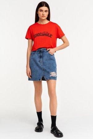 Юбка джинсовая befree. Цвет: 103, индиго