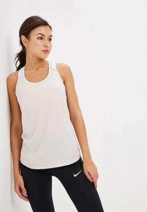 Майка спортивная Nike Womens Dry Training Tank. Цвет: бежевый