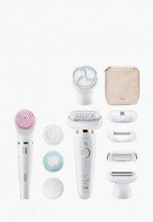 Эпилятор Braun Silk-epil 9 Flex Beauty Set SES 9100. Цвет: белый