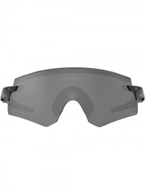 Солнцезащитные очки Encoder в массивной оправе Oakley. Цвет: серый