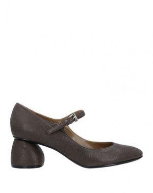 Туфли CARVEN. Цвет: темно-коричневый