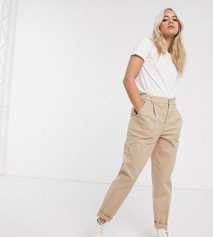 Светло-бежевые брюки чиносы ASOS DESIGN Petite-Бежевый Petite