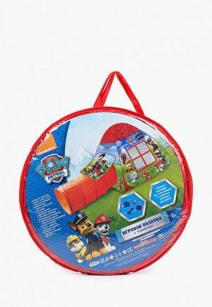 Палатка Играем Вместе игрушечный домик 81 х 95 см, тоннель 46 100 см.. Цвет: разноцветный