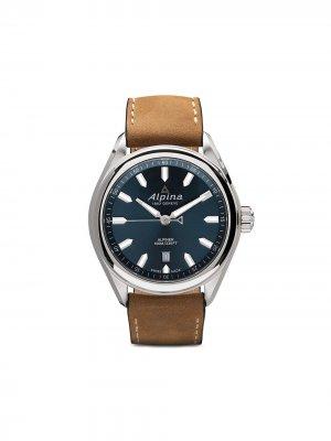 Наручные часы Alpiner Quartz 42 мм Alpina. Цвет: blue