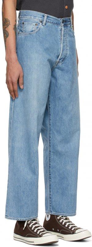 Blue Crossed Denim Jeans Kuro. Цвет: light indig
