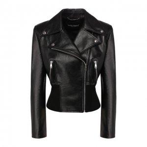 Кожаная куртка Dolce & Gabbana. Цвет: чёрный