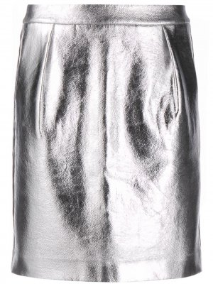 Юбка мини с эффектом металлик Karl Lagerfeld. Цвет: серебристый