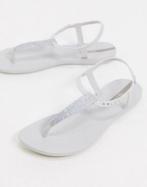 Белые сандалии с блестками -Белый Ipanema