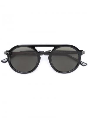 Солнцезащитные очки с круглой оправой Thierry Lasry. Цвет: чёрный