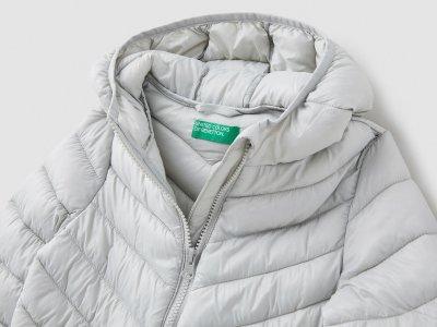 Ультралёгкая куртка Benetton. Цвет: серый