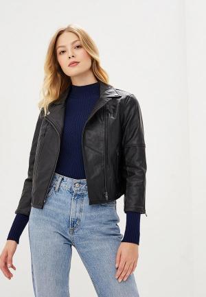 Куртка кожаная SH SH021EWCSKS6. Цвет: черный