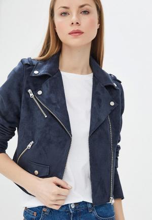 Куртка кожаная Q/S designed by. Цвет: синий