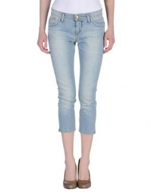 Джинсовые брюки-капри WHO*S WHO. Цвет: синий