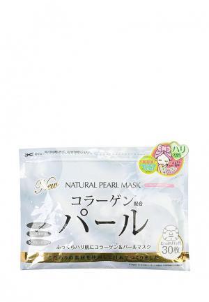 Набор масок для лица Japan Gals натуральных с экстрактом жемчуга, 30 шт