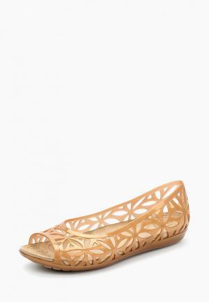 Балетки Crocs. Цвет: коричневый
