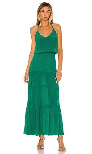 Макси платье karina Grimaldi. Цвет: зеленый