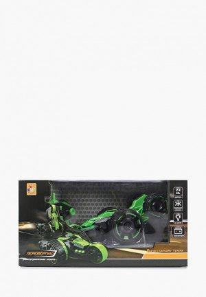 Игрушка радиоуправляемая 1Toy Драйв, трюковая машина-перевертыш. Цвет: зеленый