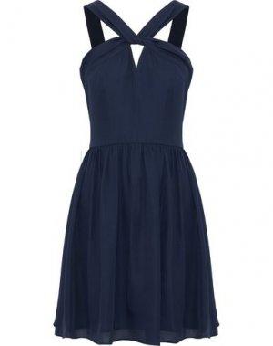 Короткое платье L'AGENCE. Цвет: темно-синий