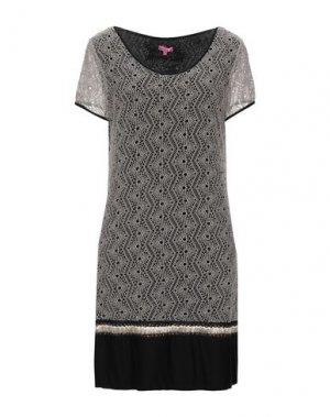 Короткое платье ÉCLÀ. Цвет: бежевый