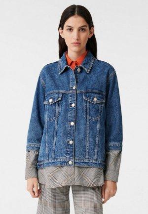 Куртка джинсовая Maje. Цвет: синий