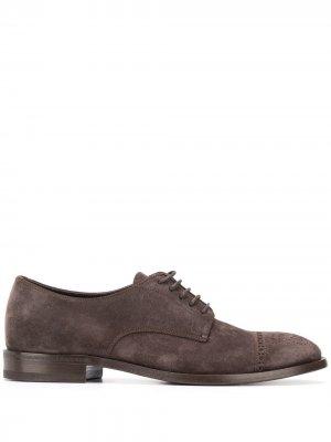 Туфли оксфорды Henderson Baracco. Цвет: коричневый