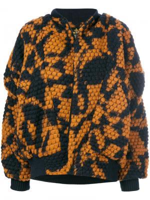 Вязаная куртка-бомбер Fever Vivienne Westwood Anglomania. Цвет: синий