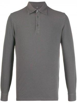 Long-sleeve polo shirt Ballantyne. Цвет: серый