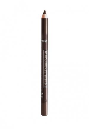 Карандаш для глаз Seventeen водостойкий т.05 Super Smooth W/P&Longstay коричневый