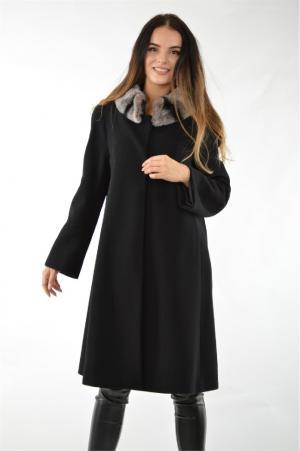 Пальто Sekli. Цвет: черный