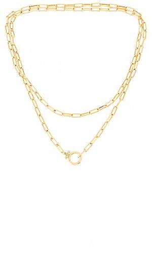 Ожерелье parker gorjana. Цвет: металлический золотой