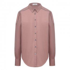 Рубашка Brunello Cucinelli. Цвет: розовый