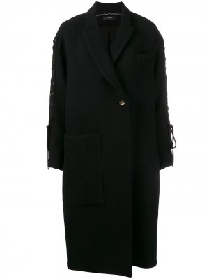 Объемное пальто Ellery. Цвет: черный