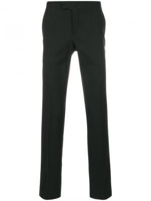Классические брюки Armani Collezioni. Цвет: синий