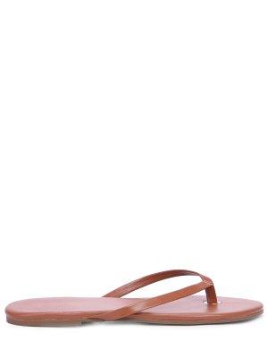 Шлепанцы кожаные MELISSA ODABASH. Цвет: коричневый