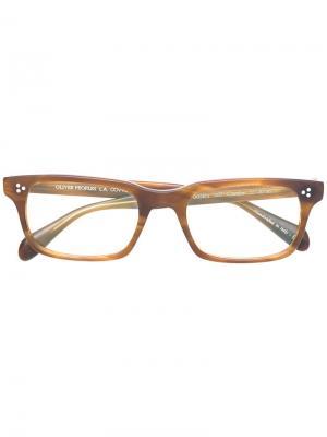 Cavalon glasses Oliver Peoples. Цвет: коричневый