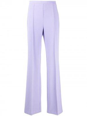 Расклешенные брюки со складками Elisabetta Franchi. Цвет: фиолетовый